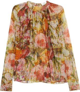 Erdem Hayley floral-print silk-chiffon blouse