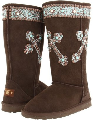 Gypsy SOULE Lotus Tall Boot (Brown) - Footwear