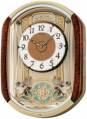 Seiko Wood Melodies in Motion Wall Clock QXM275BRH