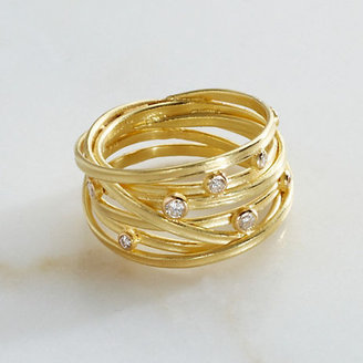 Gump's Barbara Heinrich Diamond Wrapped Gold Ring