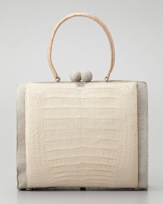 Nancy Gonzalez Crocodile Two-Tone Bag