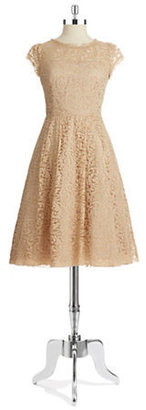 ABS by Allen Schwartz Lace Fit and Flare Dress