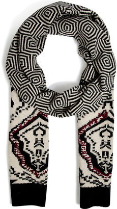 Antik Batik Scarf in Black Multi