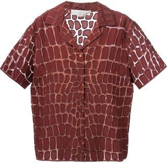 Stella McCartney animal skin print shirt