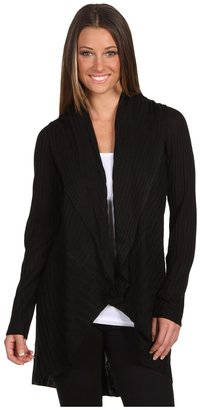 Calvin Klein Long Draped Cardigan (Black) - Apparel