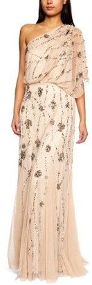 Adrianna Papell Women's One Shoulder Beaded Blouson Dress $300 thestylecure.com