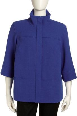 Lafayette 148 New York Emiline Trapper Jacket, Women's, Electric Blue