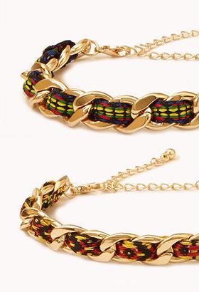 Forever 21 Friendship Curb Chain Bracelets