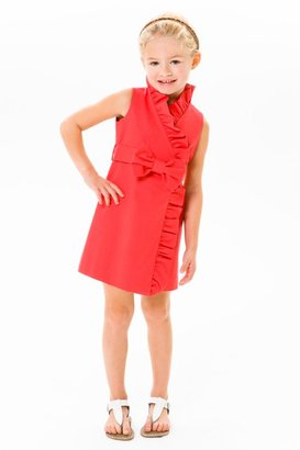 Milly Minis Dresses - Red Ruffle Wrap Dress