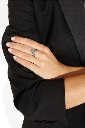 Cascade oxidized silver ring