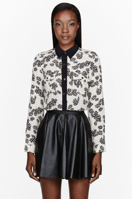 Marc by Marc Jacobs Cream Silk Crepe Rae Rae Tulip Blouse