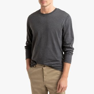 La Redoute Collections Cotton Round Neck T-Shirt with Long Sleeves