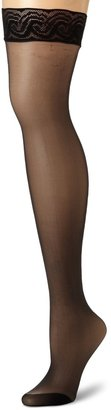 Pretty Polly Women's Nylon Lace Top Hold Ups