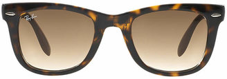 Ray-Ban Folding Wayfarer in Tortoise Shell