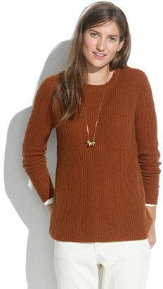 Madewell Elbow-Patch Stadium Sweater