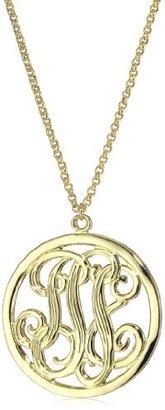 Yochi Design Yochi Monogram Cut Necklace
