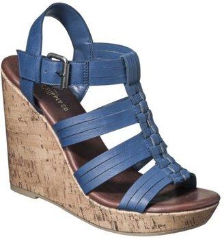 Mossimo Women's Waylon Harachi Cork Wedge Sandal - Blue