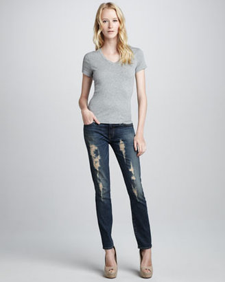 TEXTILE Elizabeth and James Debbie Distressed Skinny Jeans