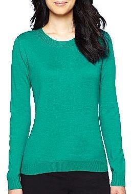 JCPenney Worthington® Pleated Crewneck Sweater - Petite