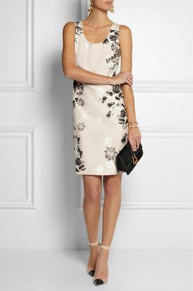 Giambattista Valli Floral-print silk-shantung dress