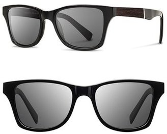 Men's Shwood 'Canby' 53Mm Wood Sunglasses - Black/ Ebony/ Grey $109 thestylecure.com
