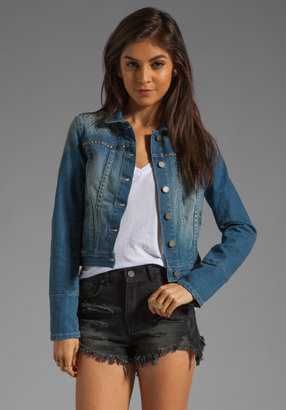 Paige Colbie Studded Denim Jacket