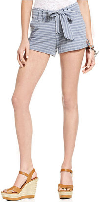 Tommy Hilfiger Juniors Shorts, Striped Cuffed Chambray