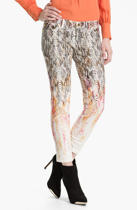 Haute Hippie Ombre Snake Print Jeans