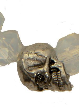 Duchess of Malfi Moonstone and Skull Bracelet