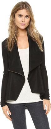 Helmut Lang Sonar Wool Shawl Collar Jacket $380 thestylecure.com