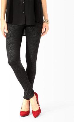Forever 21 Pebbled Ponte Knit Leggings