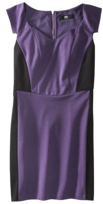Mossimo Women's Ponte Color Block Dress w/Cap Sleeves - Assorted Colors
