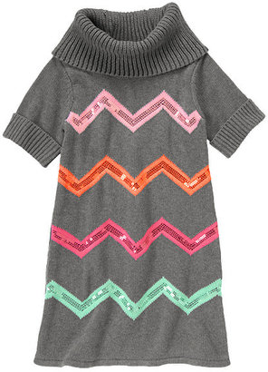Gymboree Sequin Chevron Stripe Sweater Dress