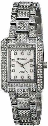 Armitron Women's 75/5251MPSV Swarovski Crystal-Accented Silver-Tone Rectangular Watch $60 thestylecure.com