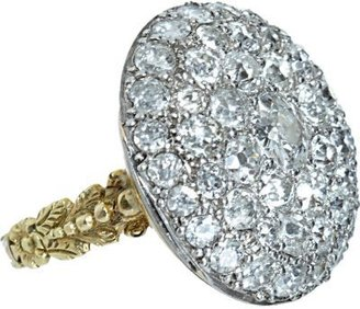 Olivia Collings Antique Jewelry Old Cut Diamond Button Ring