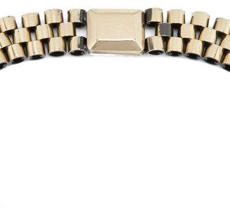 Iosselliani Rolex Chain Bib Stud Necklace in Multi