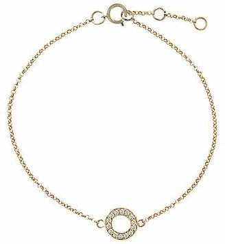 London Road Meridian Diamond Circle 9ct Gold Bracelet