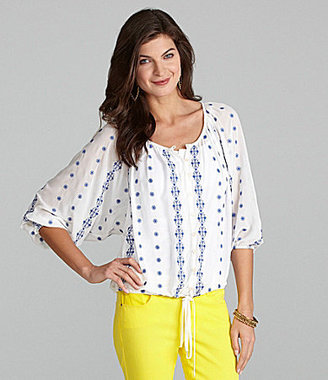 Gibson & Latimer Embroidered Peasant Blouse