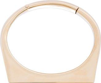 Maison Martin Margiela Gold Solid Platform Crest Bracelet