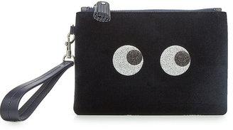 Anya Hindmarch Eyes Velvet Mini Zipped Pouch