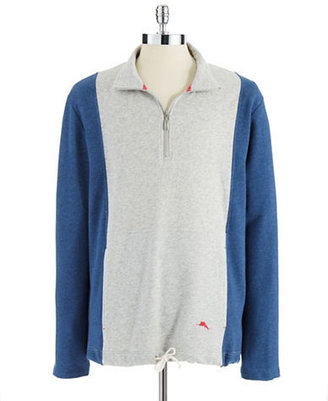 Tommy Bahama Heathered Colorblock Quarter-Zip Pullover