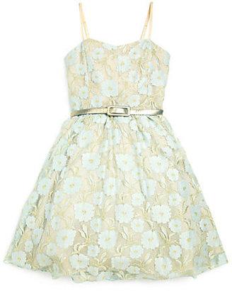 Un Deux Trois Girl's Clearwater Lace Party Dress