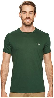 Lacoste Short-Sleeve Pima Jersey Crewneck T-Shirt (Red) Men's T Shirt