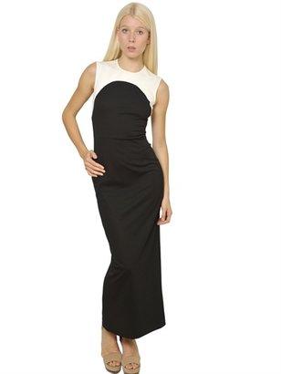 Stella McCartney Two Tone Compact Cotton Jersey Dress
