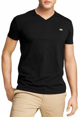 Lacoste Solid V-Neck Tee