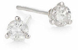 Effy Sterling Silver and 0.25 TCW Diamond Round Stud Earrings