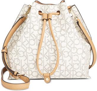 Calvin Klein Monogram Small Bucket Bag