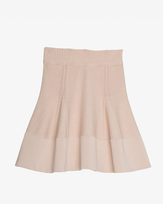 A.L.C. Exclusive Raised Seamed Panel Knit Flare Skirt