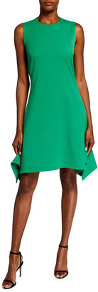 Victoria Victoria Beckham Drawstring-Back Flounce-Hem Sleeveless Dress