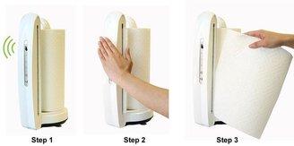 iTouchless Towel-Matic II Sensor Paper Towel Dispenser in Pearl White